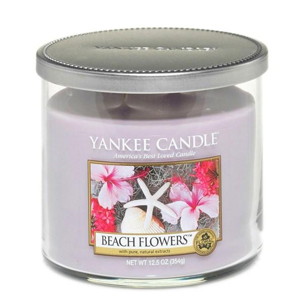 شمع کوچک لیوانی ینکی کندل مدل گل های ساحلی