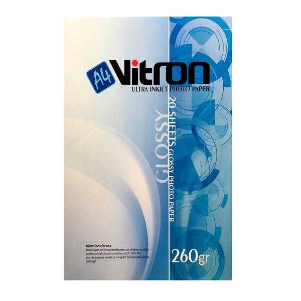 کاغذ عکس ویترون مدل Ultra Inkjet Photo Paper سایز A4 بسته 20 عددی