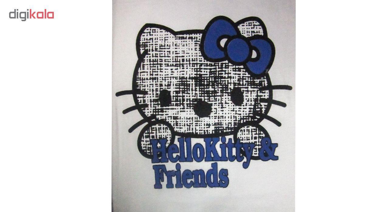 ست تی شرت و شلوارک زنانه مدل Hello Kitty-Red main 1 4