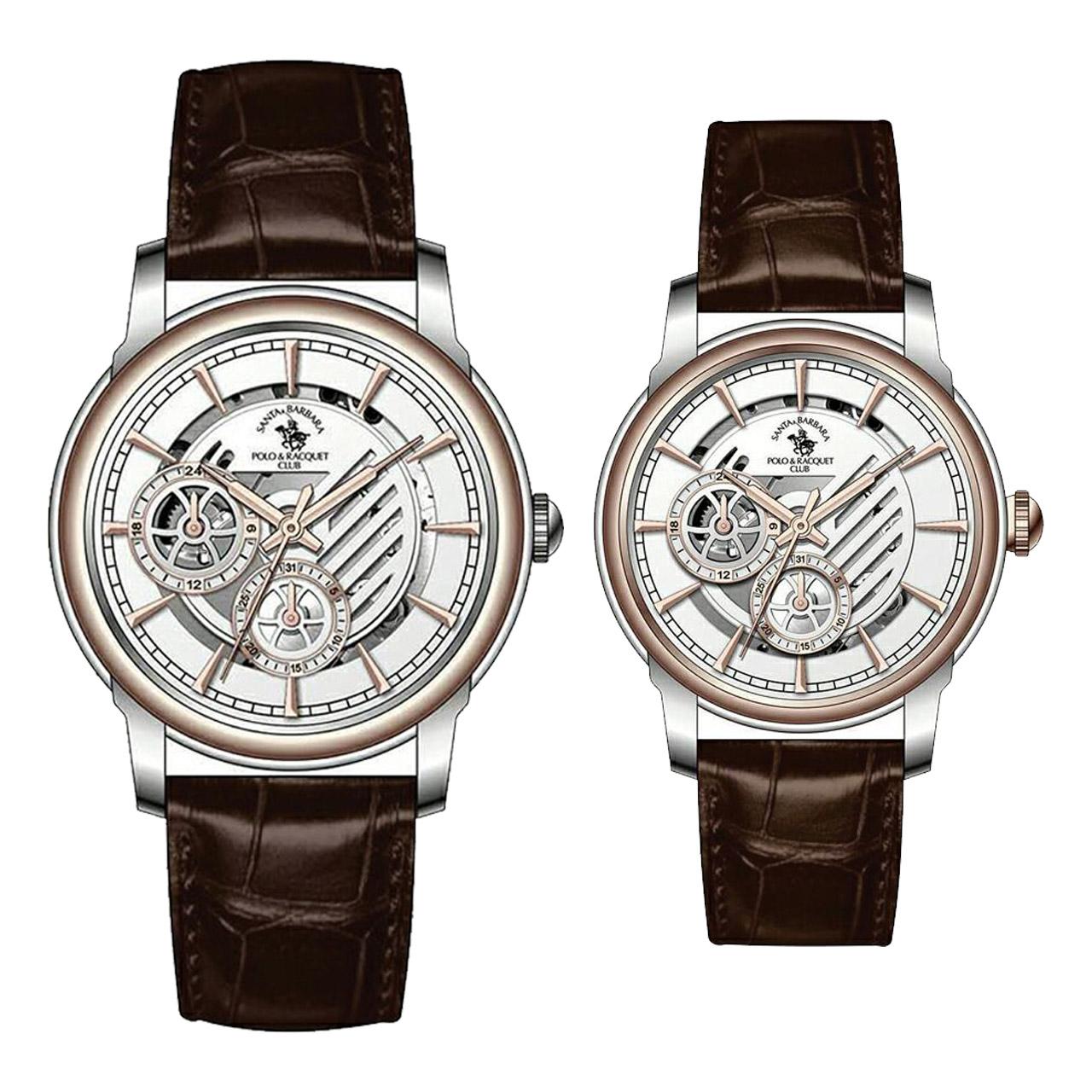 ست ساعت مچی عقربه ای مردانه و زنانه سانتا باربارا مدل sb.12.1005.6
