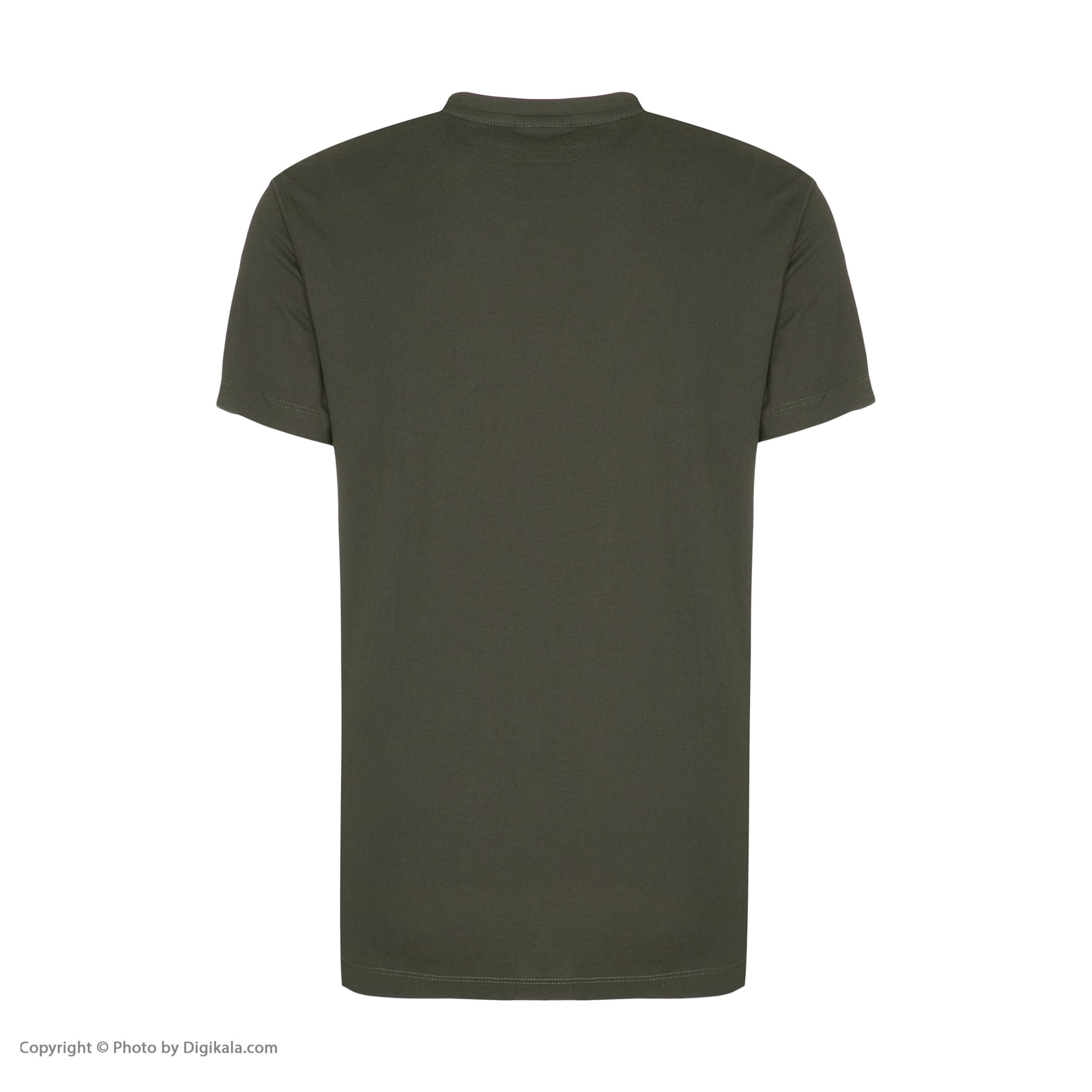 تیشرت آستین کوتاه مردانه ان سی نو مدل بیتر رنگ سبز ارتشی -  - 3