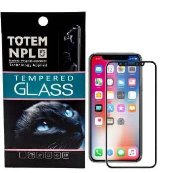 محافظ صفحه نمایش تمام چسب شیشه ای  مدل 5D  مناسب برای گوشی اپل آیفون X