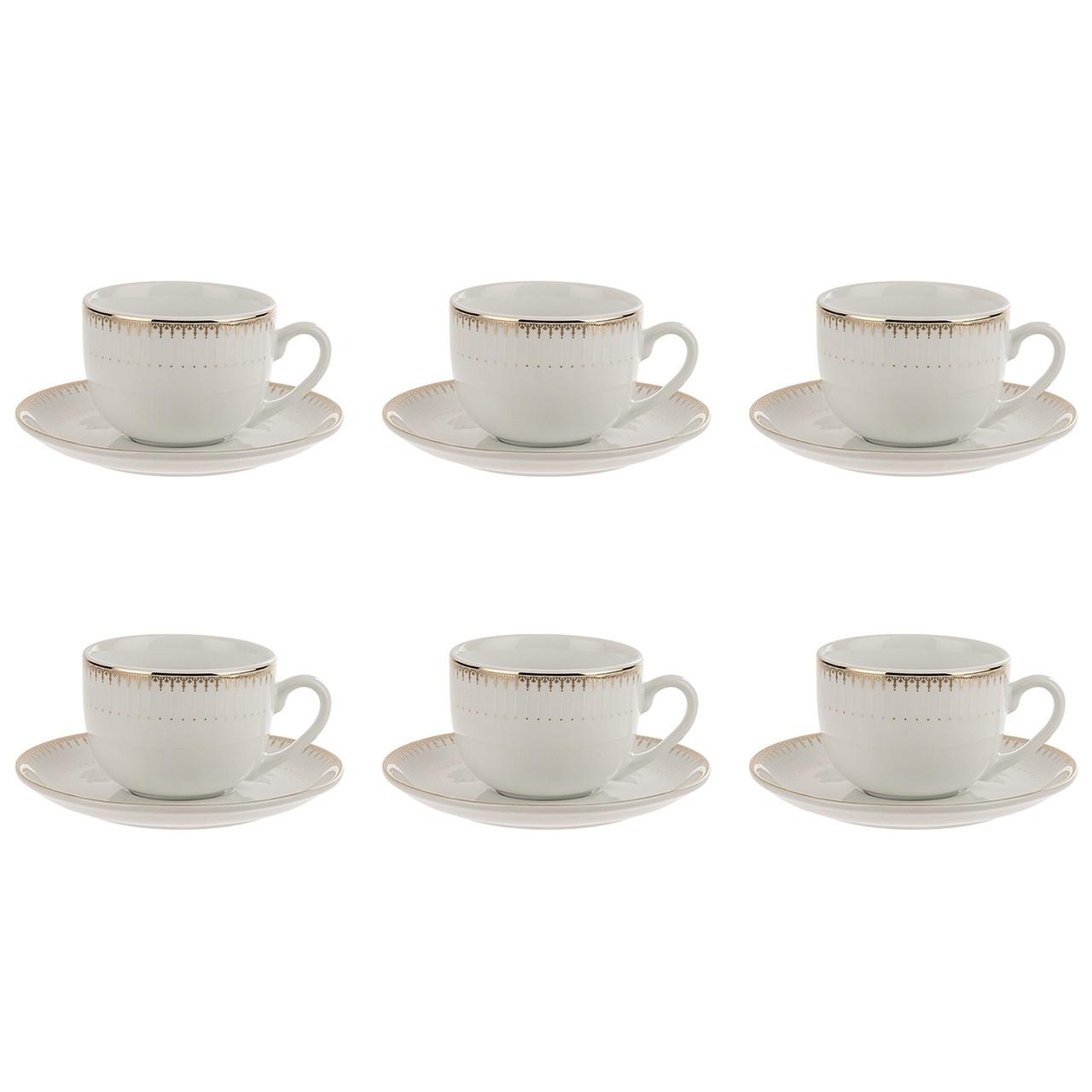 عکس سرویس چای خوری 12 پارچه چینی زرین ایران سری ایتالیا اف مدل Sepidar درجه یک