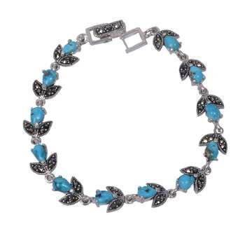 دستبند زنانه نقره کد DZ117