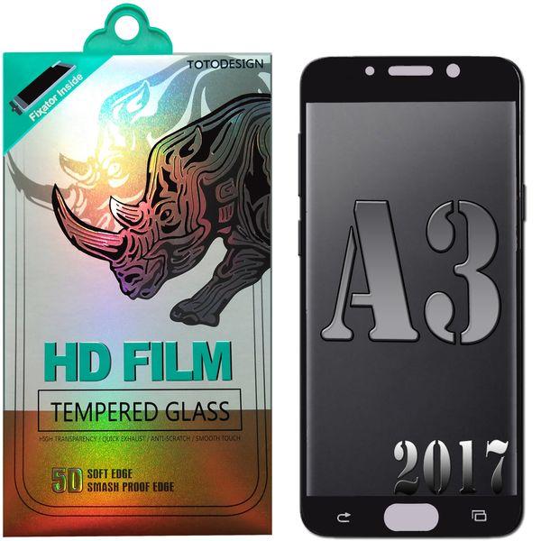 محافظ صفحه نمایش توتو مدل HD1075D تمام چسب مناسب برای گوشی موبایل سامسونگ A3-2017