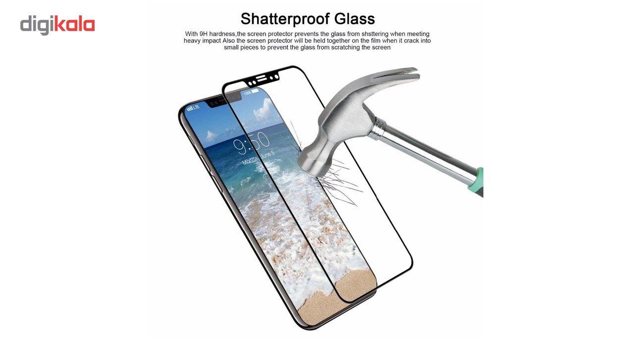 محافظ صفحه نمایش تمام چسب شیشه ای  مدل 5D  مناسب برای گوشی اپل آیفون X main 1 7