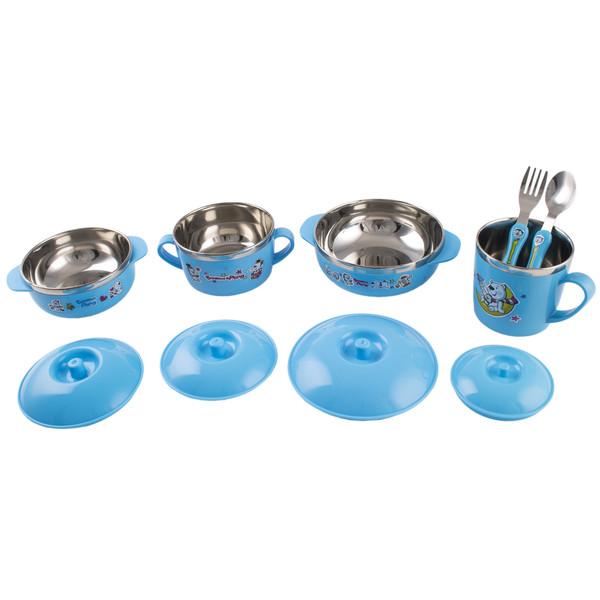 ست 10 پارچه ظرف غذای استیل کودک باوو پنگ مدل BABY06