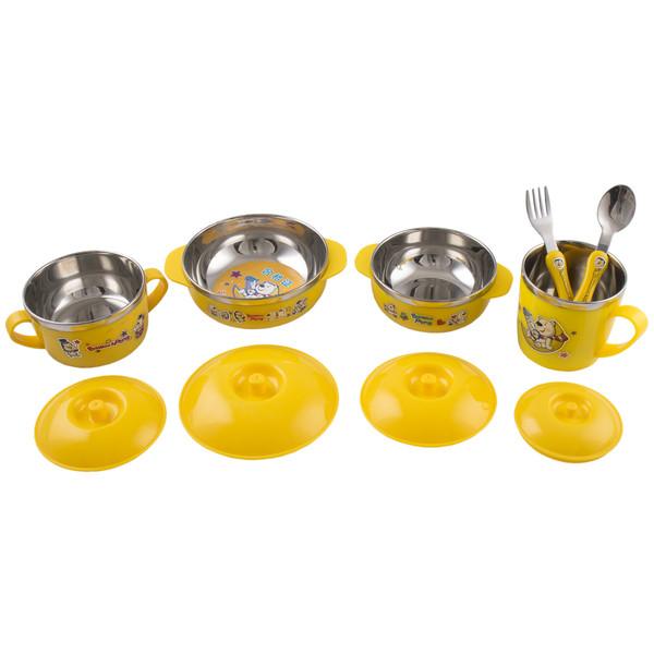 ست 10 پارچه ظرف غذای  کودک باوو پنگ مدل A-BP
