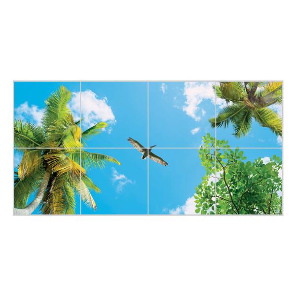 تایل آسمان مجازی بنی دکو مدل UV88 سایز 60x60 سانتی متر مجموعه 8 عددی