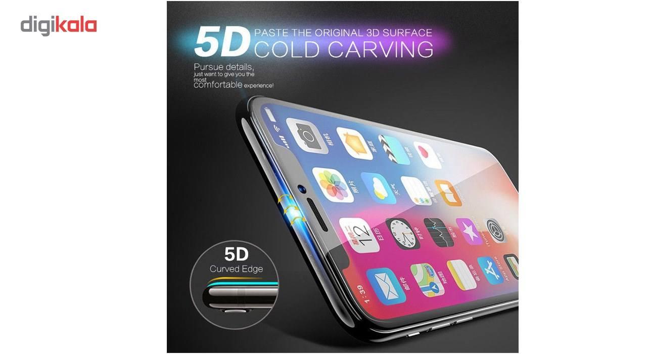 محافظ صفحه نمایش تمام چسب شیشه ای  مدل 5D  مناسب برای گوشی اپل آیفون X main 1 9