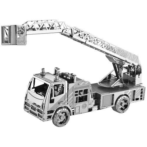 پازل فلزی سه بعدی - مدل ماشین آتش نشانی BMK بهمراه انبردست مخصوص