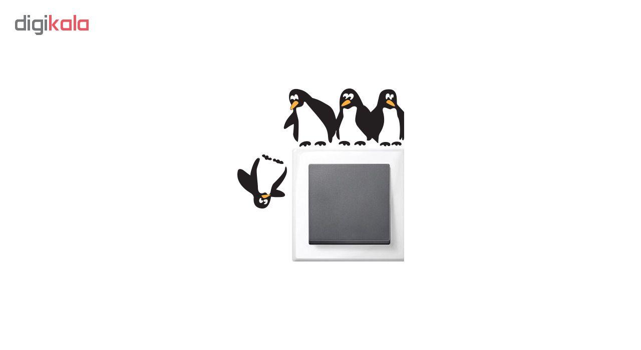 استیکر کلید پریز طرح پنگوئن ها main 1 2