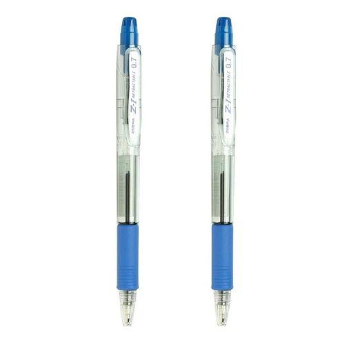 خودکار فشاری زبرا مدل Z-1 با قطر نوشتاری 0.7 میلی متر بسته 2 عددی