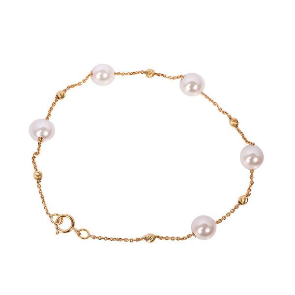 دستبند طلا 18 عیار گالری مرجان مدل 0859