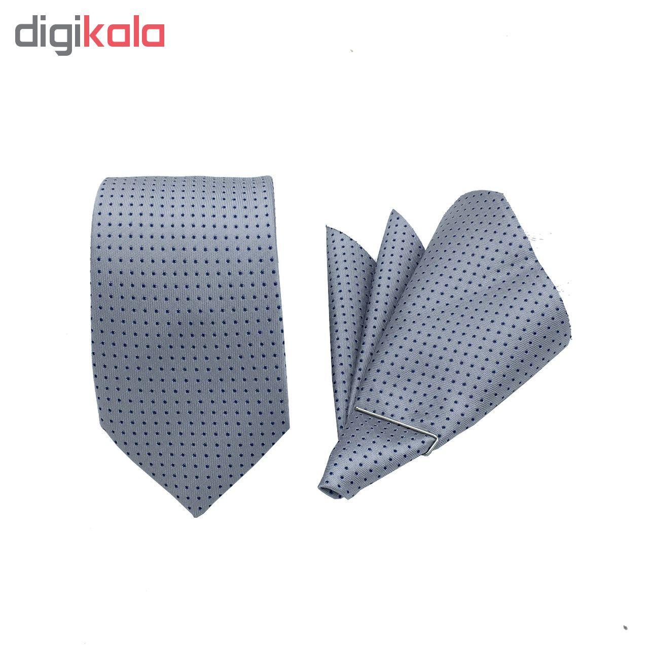 ست کراوات و دستمال جیب مدل KDN-009