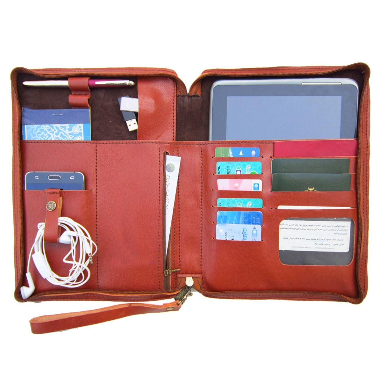 کیف  دستی مدیریتی  چرم دستدوز مژی مدل SH