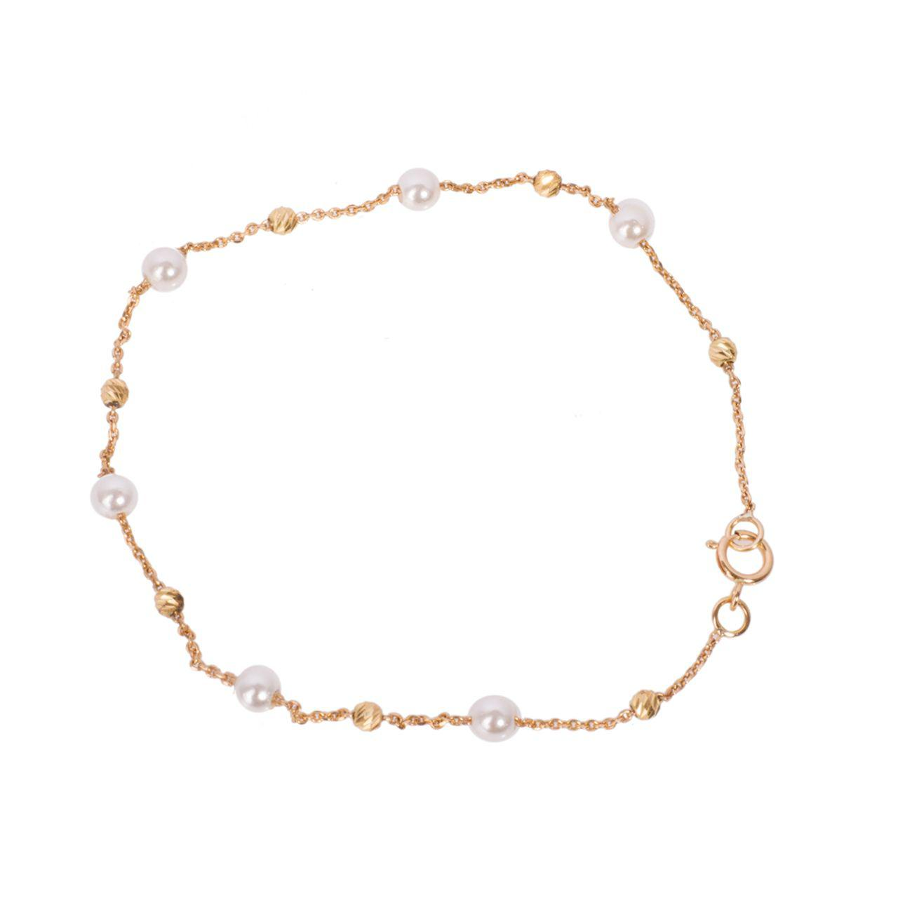 قیمت دستبند طلا 18 عیار گالری مرجان مدل 0860