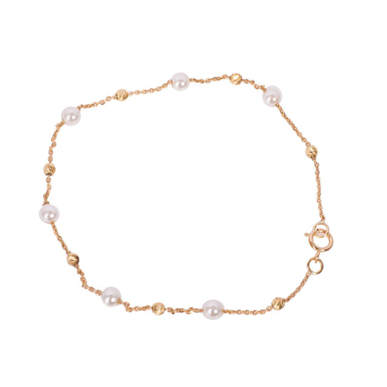 دستبند طلا 18 عیار گالری مرجان مدل 0860