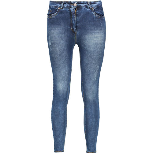 شلوار زنانه جین پاورکش درسا تن پوش مدل L65
