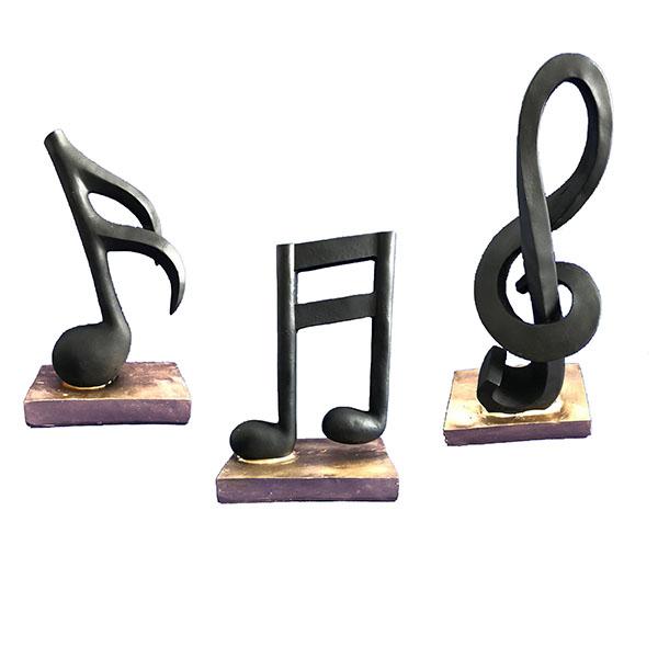 مجسمه مدل نت موسیقی مجموعه 3 عددی