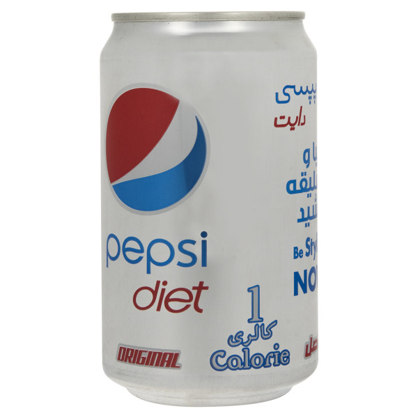 نوشابه گاز دار با طعم کولا دایت پپسی - 330 میلی لیتر