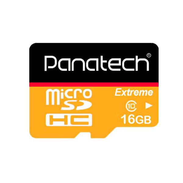 کارت حافظه microSDHC پاناتک مدل extreme کلاس 10 استاندارد سرعت 30 MBps ظرفیت 16 گیگابایت