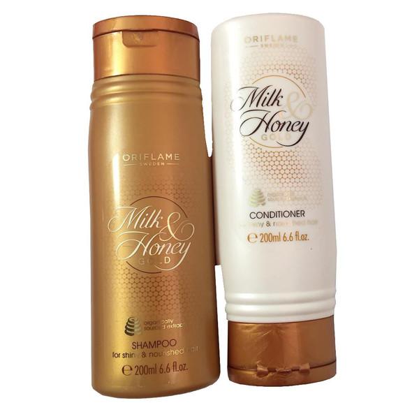 مجموعه شامپو و نرم کننده اوریفلیم مدل Milk-Honey GOLD