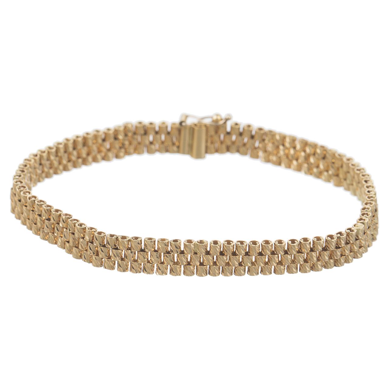 قیمت دستبند طلا 18 عیار زنانه گوی گالری مدل G58