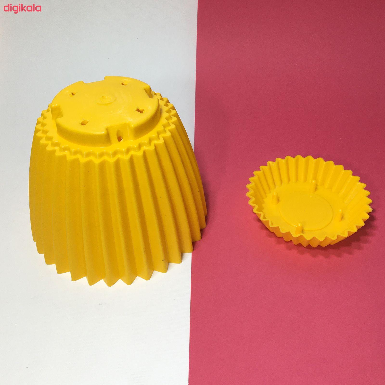 گلدان دانیال پلاستیک کد 208 main 1 6
