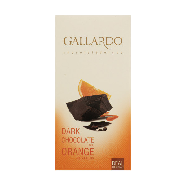 شکلات تلخ با مغزی ژله ای پرتغالی گالاردو فرمند مقدار 100گرم