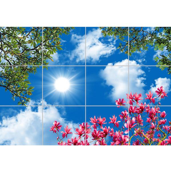 تایل سقفی آسمان مجازی مدل AY43007 سایز 60*60 مجموعه 12 عددی