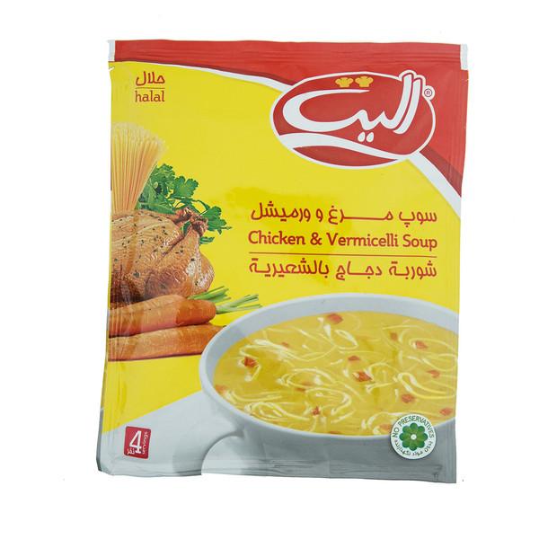 سوپ مرغ و ورمیشل الیت مقدار 65 گرم