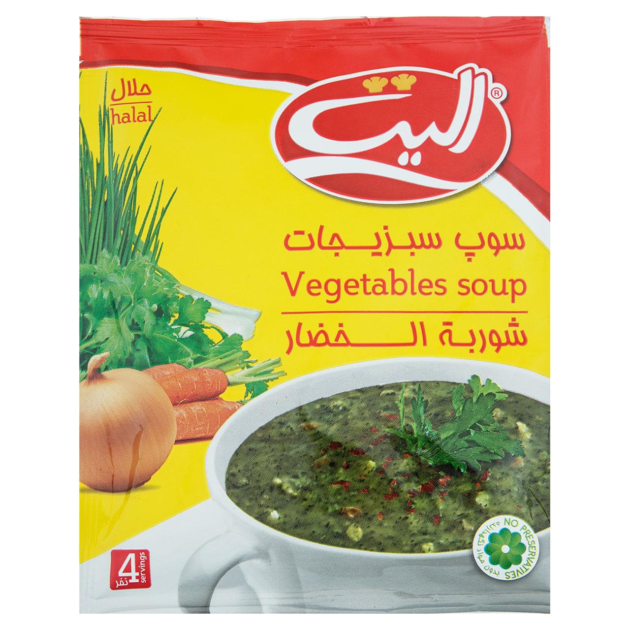 سوپ سبزیجات الیت مقدار 65 گرم