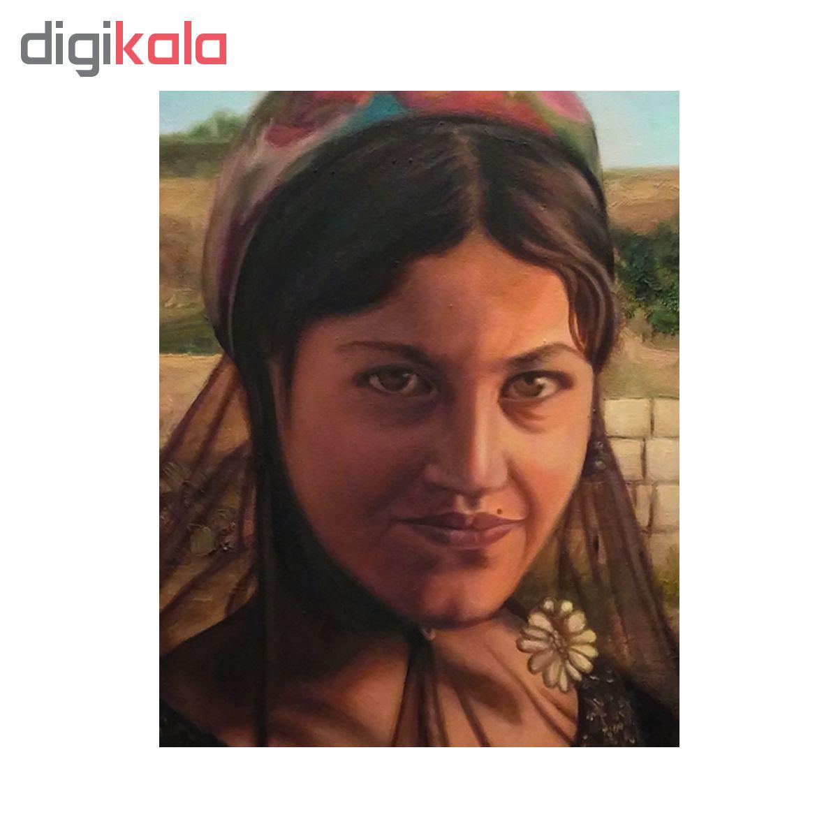 خرید                      تابلو نقاشی رنگ روغن طرح دختر عشایر  2