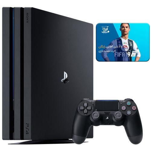 کنسول بازی سونی مدل Playstation 4 Pro کد CUH-7216B Region 2 - ظرفیت 1 ترابایت بهمراه 20 عدد بازی 2019