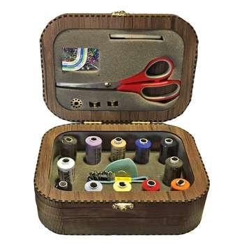 جعبه لوازم خیاطی نور طرح چوب کد RLN02006