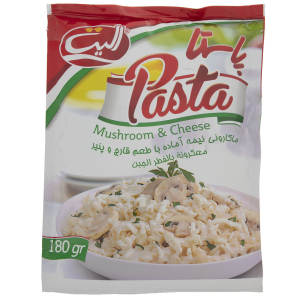 پاستا با طعم قارچ و پنیر الیت مقدار 180 گرم
