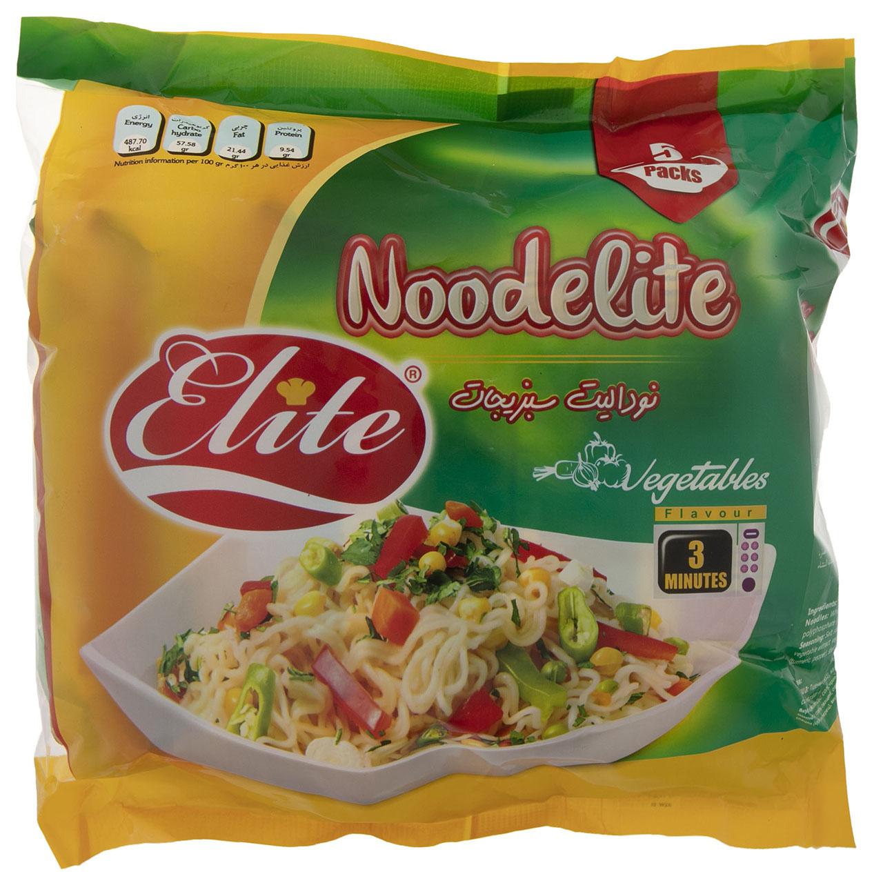 نودالیت با طعم سبزیجات الیت مقدار 375 گرم