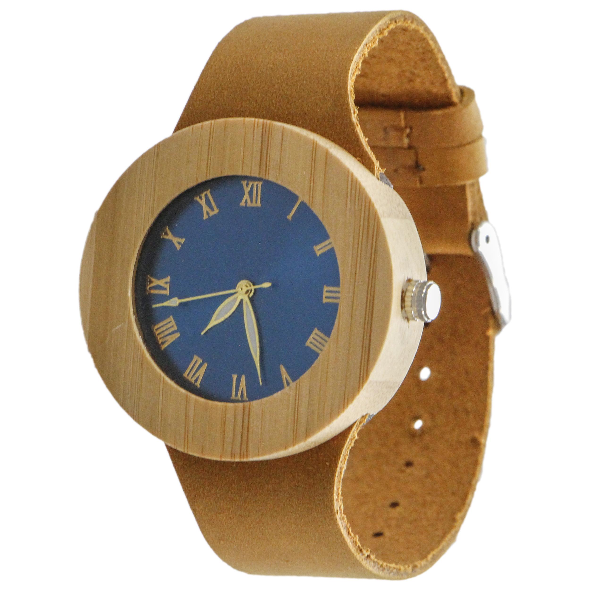 ساعت مچی چوبی عقربه ای - کد BMK17