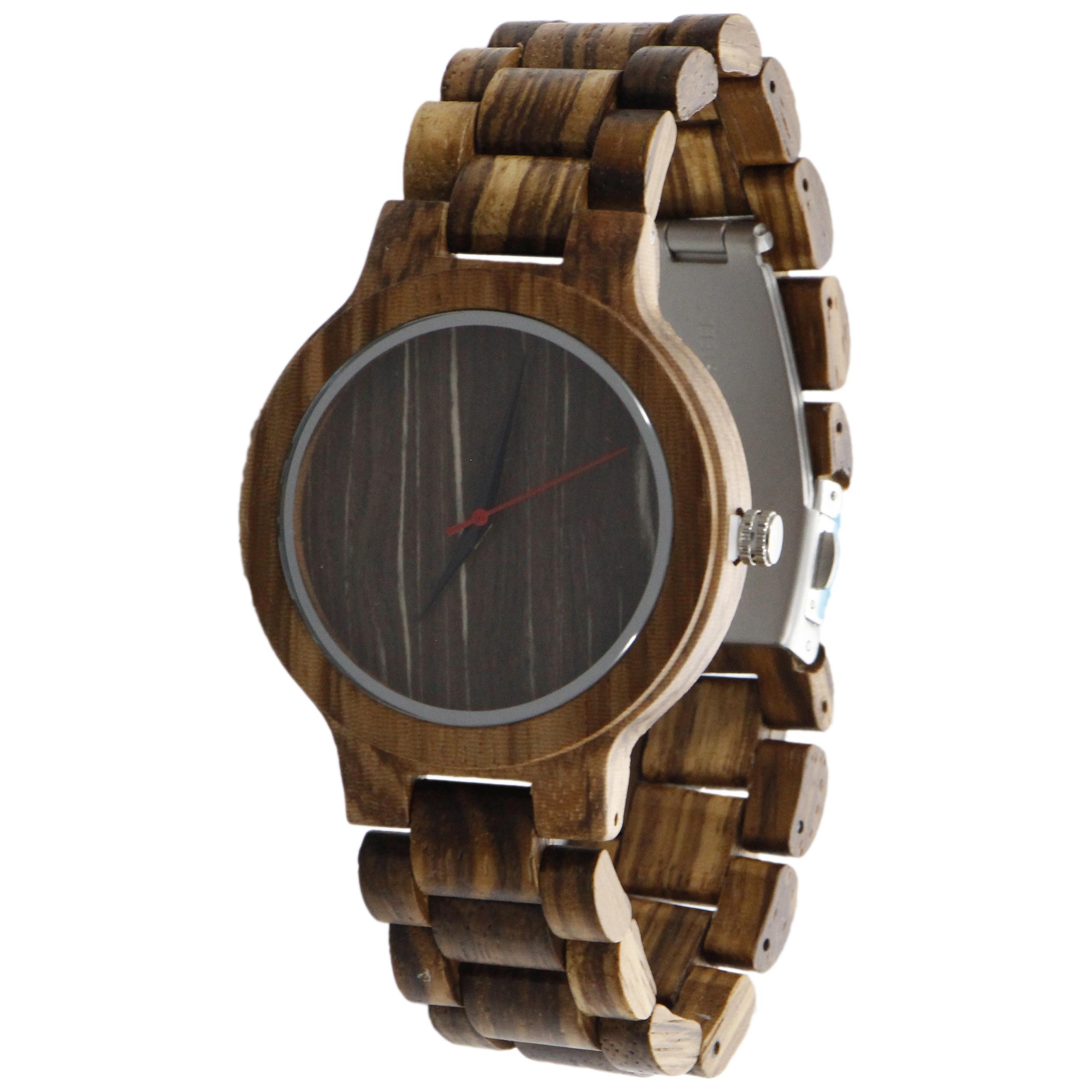 ساعت مچی چوبی عقربه ای - کد BMK23