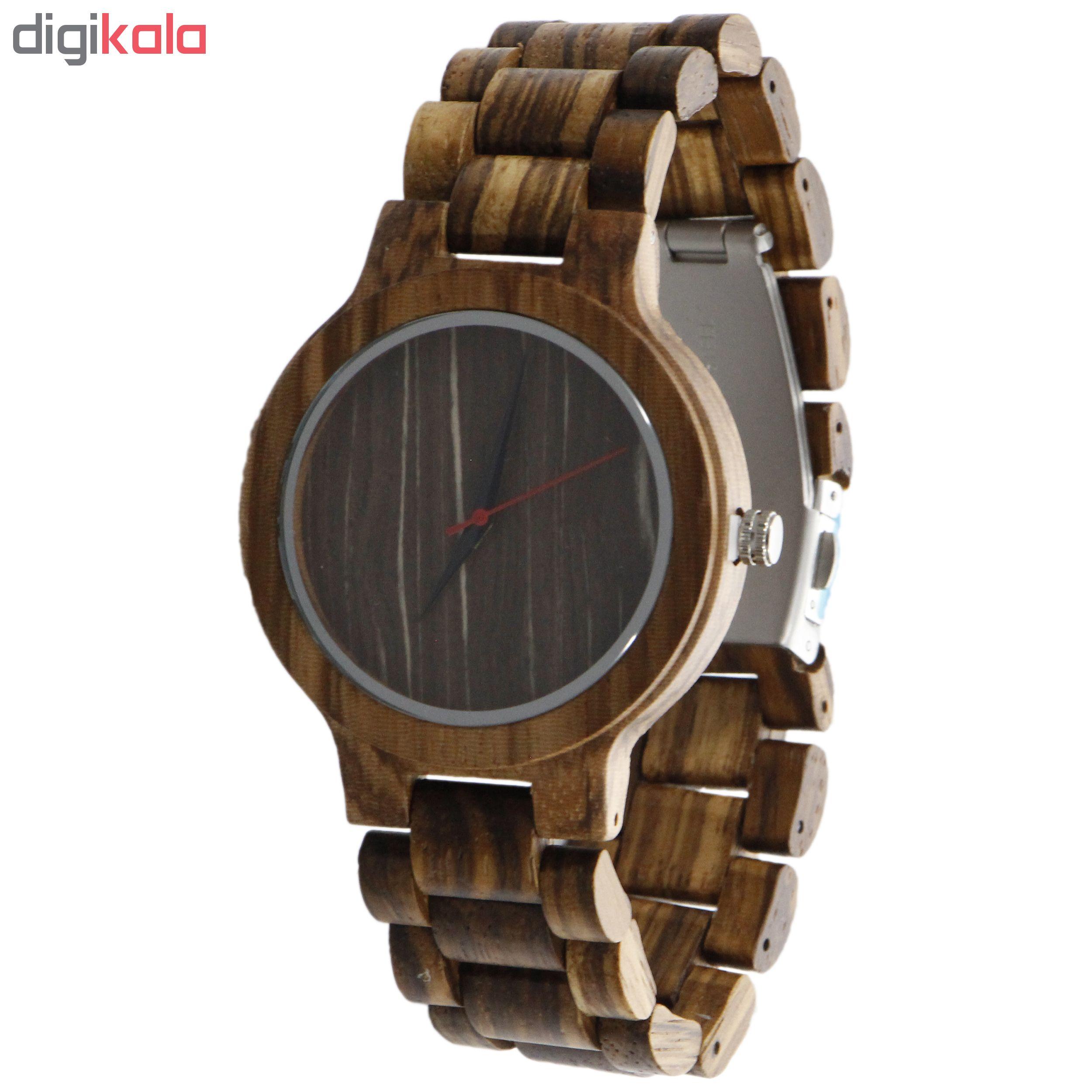 خرید ساعت مچی چوبی عقربه ای - کد BMK23