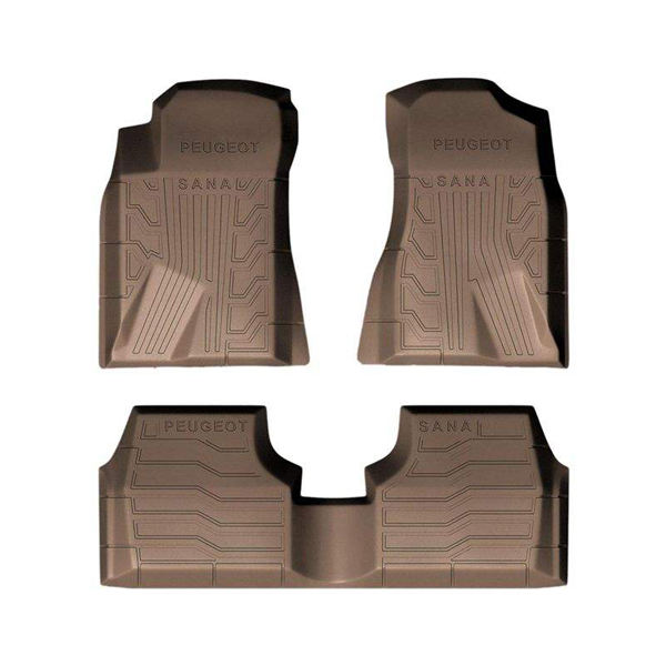 کفپوش سه بعدی خودرو سانا مناسب برای پژو