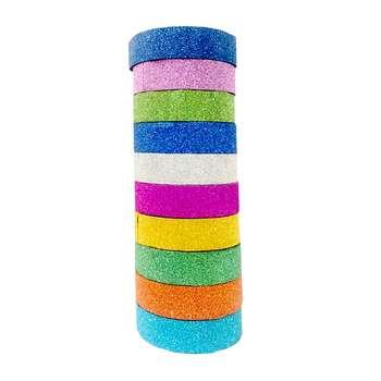 چسب نواری اکلیلی مدل Glitter بسته 10 عددی