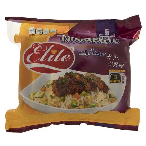 نودالیت با طعم گوشت الیت مقدار 75 گرم بسته 5 عددی