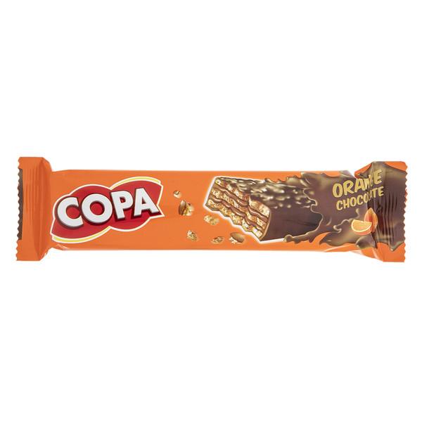 ویفر کاکائویی با کرم پرتقالی کوپا مقدار 32 گرم