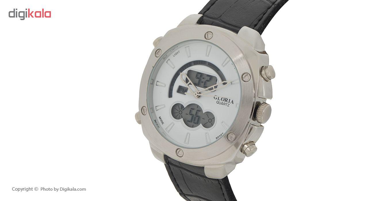 ساعت مچی عقربه ای مردانه گلوریا مدل E1