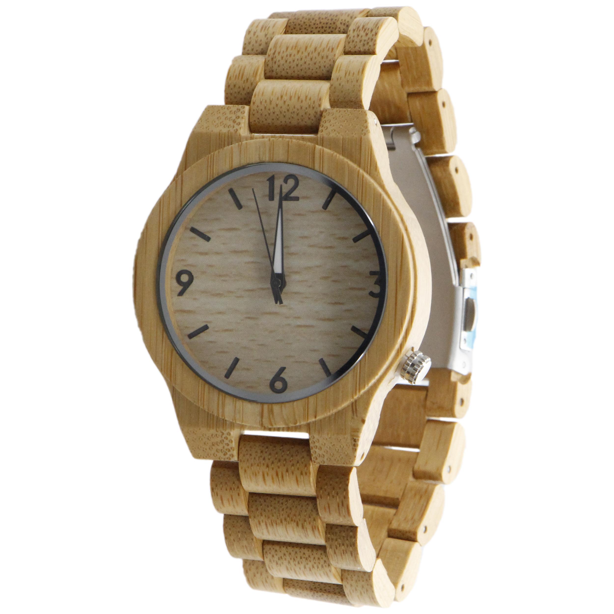 ساعت مچی  چوبی عقربه ای - کد BMK26