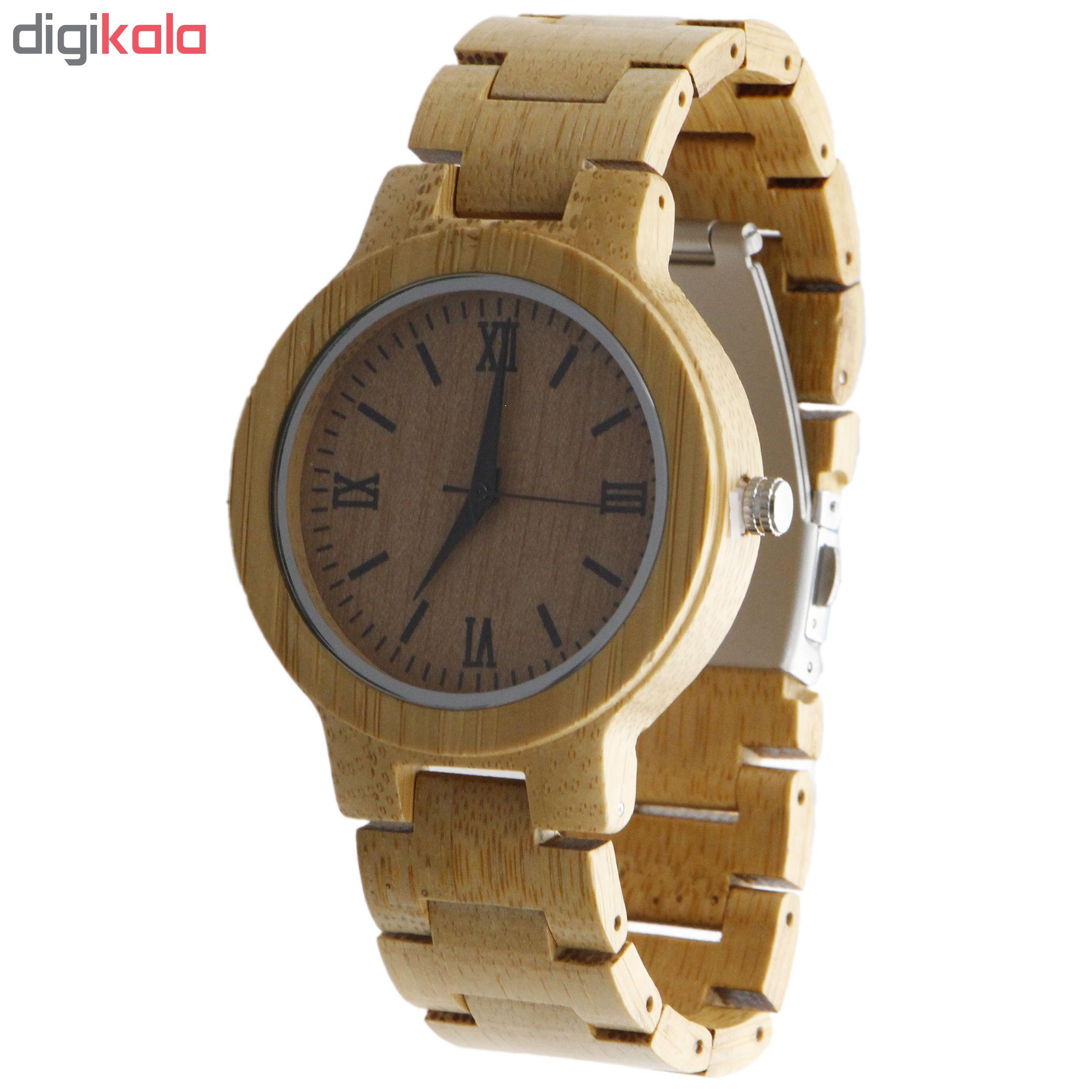 خرید ساعت مچی چوبی عقربه ای - کد BMK27