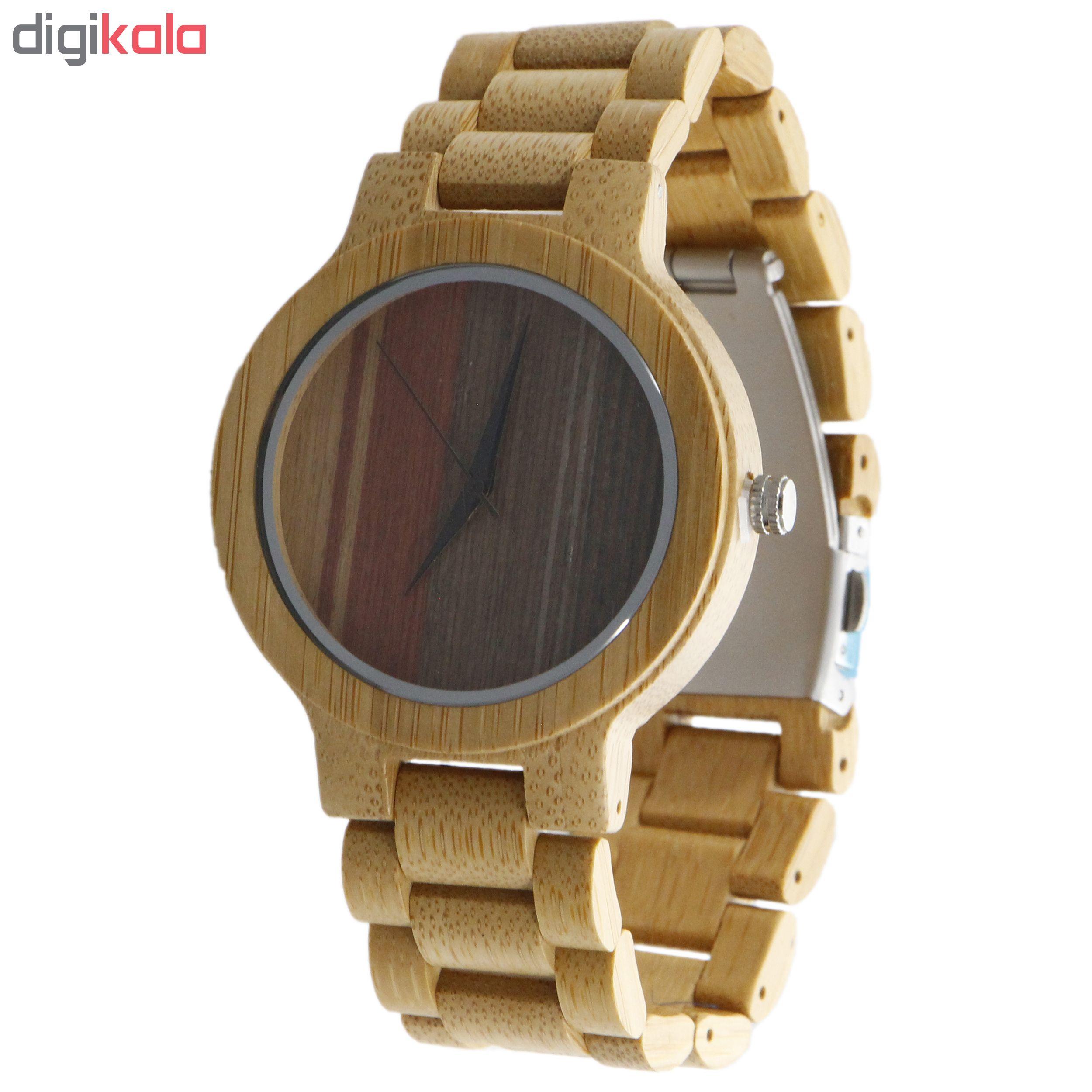 ساعت مچی چوبی عقربه ای - کد BMK28
