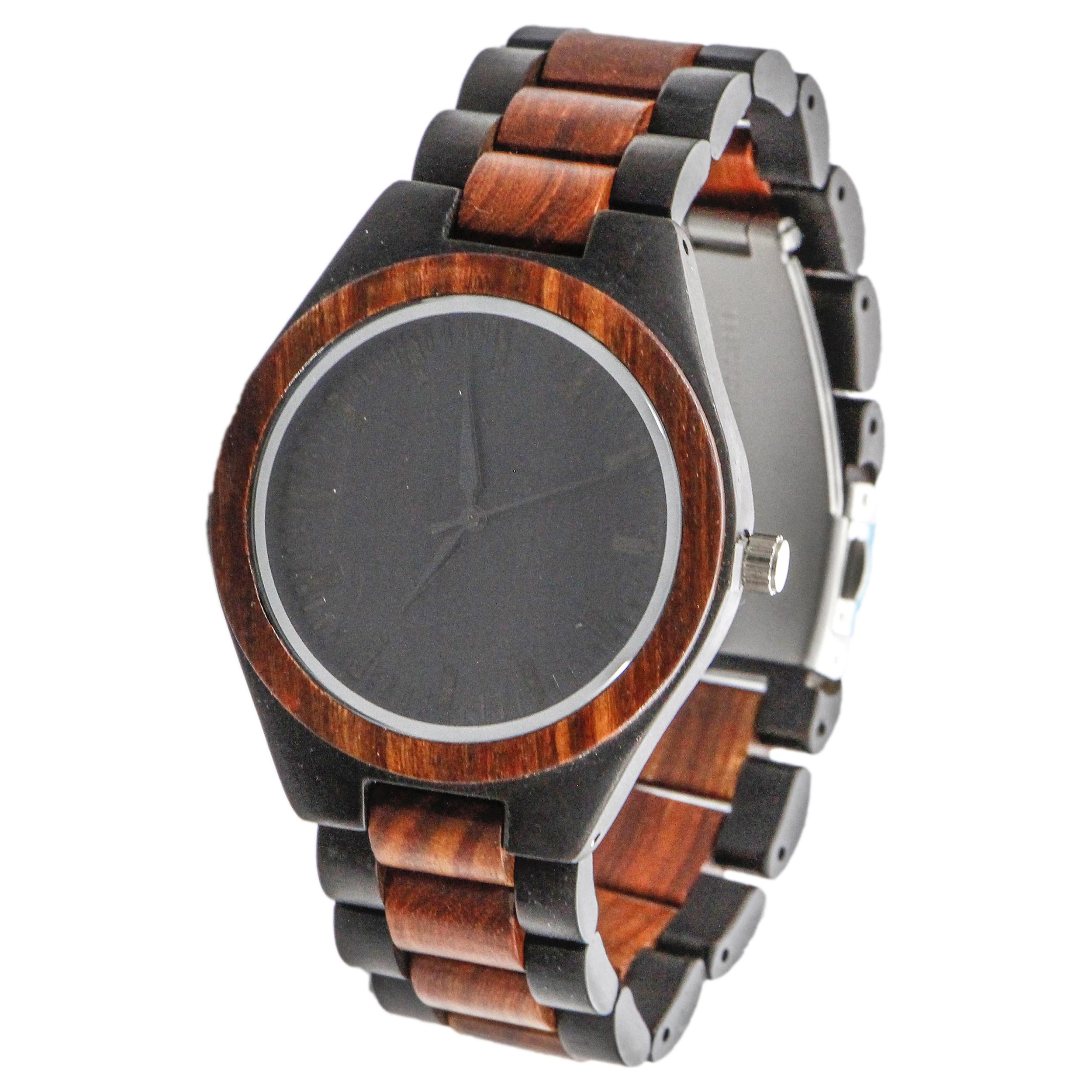 ساعت مچی چوبی عقربه ای - کد BMK29 54